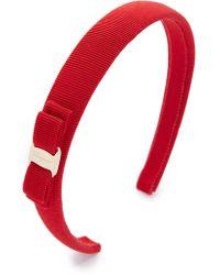 Ferragamo - Vara Bow Thin Headband - Lyst