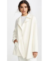Theory Overlay Df Coat - White