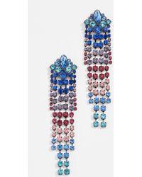 Rebecca Minkoff - Gemma Fringe Earrings (crystal) Earring - Lyst