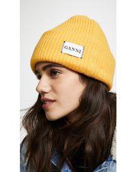 Ganni - Hatley Knit Hat - Lyst