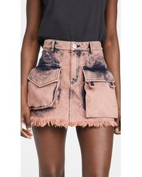 Marques'Almeida Patch Pocket Mini Skirt - Pink