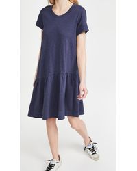 Wilt Torso Slant Hem Dress - Blue