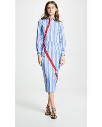 Stella Jean - Striped Shirtdress - Lyst