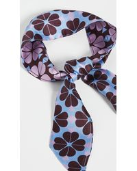 Kate Spade Flower Spade Skinny Scarf - Blue