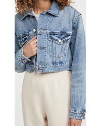 GOOD AMERICAN Crop Jacket - Blue