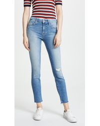Mother - Looker Ankle Fray Jeans - Lyst