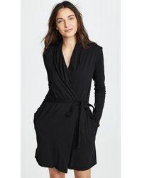 Skin Travel Set Wrap Robe - Black