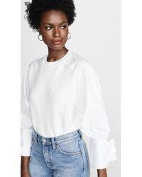 ADEAM Bow Cuff Sweater - White