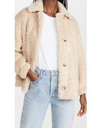Vince Textured Faux Fur Jacket - Multicolour