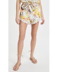 Camilla Tie Detail High Cut Shorts - Multicolour
