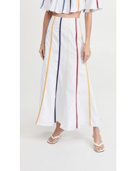 Rosie Assoulin Fluted Umbrella Skirt - White