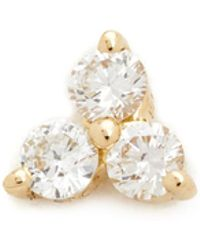 EF Collection - Diamond Trio Single Stud Earring - Lyst