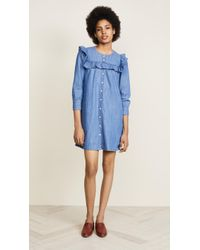 Madewell - Ruffle Sleeve Denim Shirtdress - Lyst