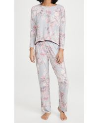 Flora Nikrooz Katelyn Printed Knit Pj Set - Grey