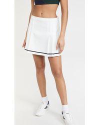 Tory Sport Tech Twill Pleat Tennis Skirt - White