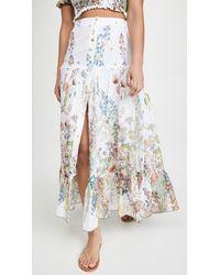 Charo Ruiz Ann Botanic Long Skirt - Multicolour