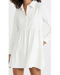 Amanda Uprichard Long Sleeve Pierre Dress - White