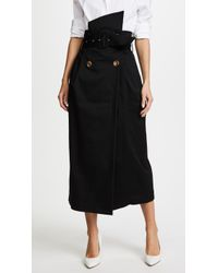 Anna October - Black Cotton Skirt - Lyst