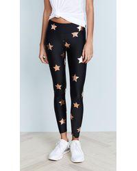 Terez Big Star Foil Print Leggings - Black
