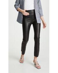 SPRWMN Leather Crop Flare Leggings - Black