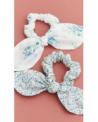 LoveShackFancy Gibson Girl Scrunchie Set - Blue