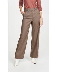 COACH Check Pants - Brown