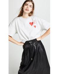 Vika Gazinskaya - Heart Print Sweatshirt - Lyst