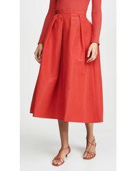 Tibi Full Skirt - Red