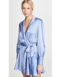 Zimmermann Super Eight Wrap Mini Dress - Blue