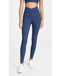 Year Of Ours Veronica Ribbed Leggings - Blue