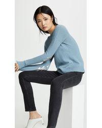 Zadig & Voltaire Bolt Patch Cashmere Sweater - Blue