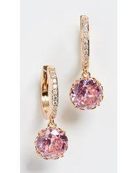 Kate Spade Pave Huggie Earrings - Pink