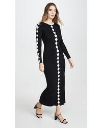 Victor Glemaud Contrast Dress - Black