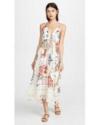 FARM Rio Romantic Floral Mini Dress - White