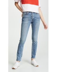 45d1913c70b7f9 RE/DONE - Double Needle Jeans - Lyst