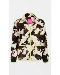 Terez Fleece Zip Up Jacket - Multicolor