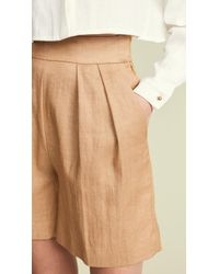Theory - Pleated Shorts - Lyst