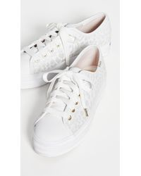 Keds X Kate Spade Triple Kick Embroidered Leopard Sneakers - White