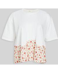 CLU Short Sleeve Swing Top - White