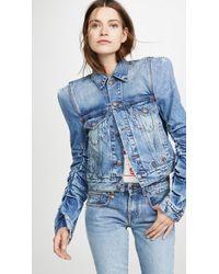 R13 Kelsey Denim Jacket - Blue