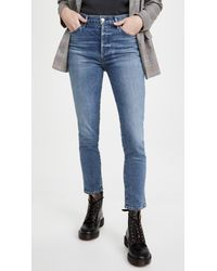 Citizens of Humanity Olivia High Rise Slim Jeans - Blue