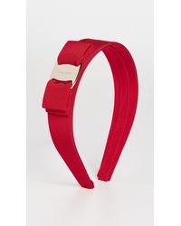 Ferragamo Bow Headband - Red