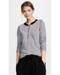 NSF - Hal Long Sleeve Stripe Henley - Lyst