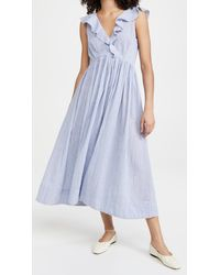 HATCH Sarah Dress - Blue