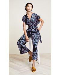 Diane von Furstenberg - Front Tie Jumpsuit - Lyst