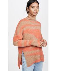 Nude Turtleneck Sweater - Orange