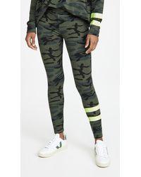 Sundry Stripe Camo Yoga Pants - Green
