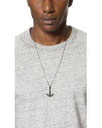 Miansai Anchor Necklace Noir - Multicolour