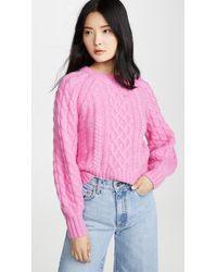 A.L.C. Mick Cable-knit Alpaca-blend Sweater - Pink