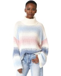 Tak.ori - Striped Angora Turtleneck Sweater - Lyst